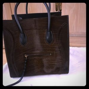 Celine Phantom Handbag Pony Hair Medium